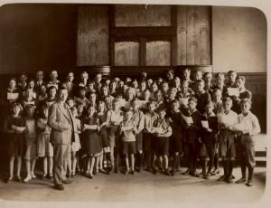 004_Chor w kaplicy szkolnej 1932