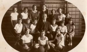 008_Lekcja Gimnastyki w sali 1932